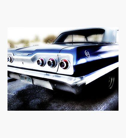 chevy impala, route 66, tulsa, oklahoma Photographic Print