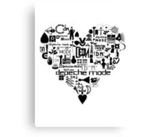 Depeche Mode : I Love DM - Black Canvas Print