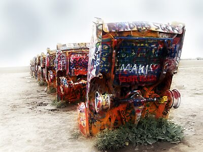 cadillac ranch, route 66, amarillo, texas