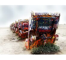 cadillac ranch, route 66, amarillo, texas Photographic Print