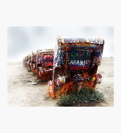 cadillac ranch, route 66, amarillo, texas Photographic Print