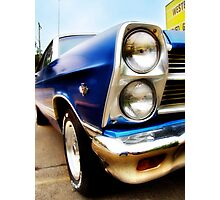 ford fairlane, route 66, miami, oklahoma Photographic Print