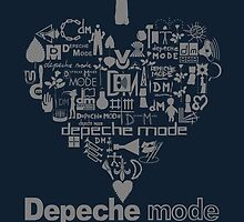 Depeche Mode : I Love DM Just Like Daddy - Grey by Luc Lambert