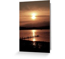 Windermere Sunset Greeting Card