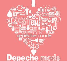 Depeche Mode : I Love DM Just Like Daddy - White by Luc Lambert