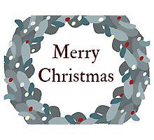 Christmas Wreath Photographic Print