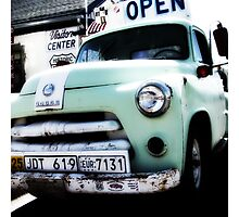 old dodge truck, route 66, seligman, arizona Photographic Print