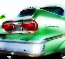 green ford fairlane, route 66, oklahoma city, oklahoma by brian gregory