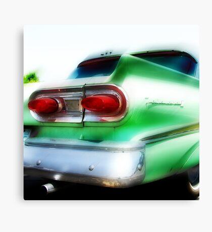 green ford fairlane, route 66, oklahoma city, oklahoma Canvas Print