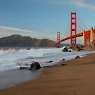 Golden Gate Bridge at Sunset by Christophe Testi
