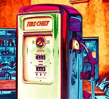 fire chief, route 66, albuquerque, new mexico by brian gregory