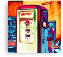 fire chief, route 66, albuquerque, new mexico Canvas Print