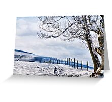 The Snow - The Fence - The Tree Greeting Card