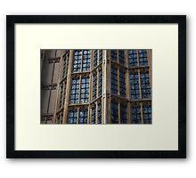 Westminster Windows Framed Print