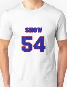 National football player Justin Snow jersey 54 T-Shirt