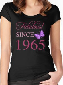 Fabulous Since 1965 Women's Fitted Scoop T-Shirt