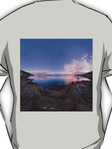 Dusk Shoreline near Moville, Donegal (Rectangular) T-Shirt
