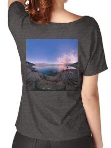 Dusk Shoreline near Moville, Donegal (Rectangular) Women's Relaxed Fit T-Shirt