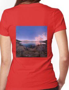 Dusk Shoreline near Moville, Donegal (Rectangular) Womens Fitted T-Shirt