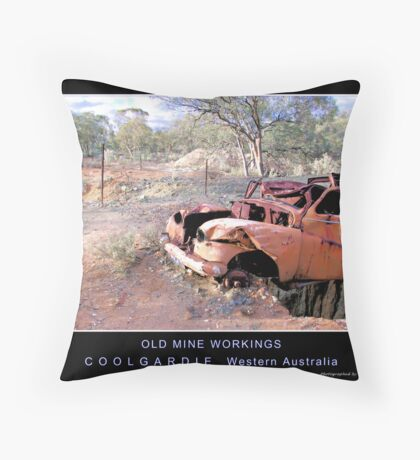 Old mine workings Throw Pillow