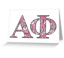 Alpha Phi Lilly Letters Greeting Card