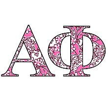 Alpha Phi Lilly Letters Photographic Print