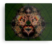 Fractal Lion Metal Print
