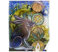 In the Moon Rabbit's Garden Poster