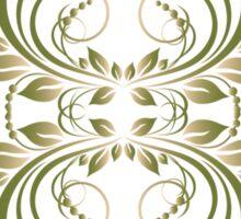 green vintage pattern Sticker