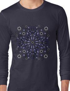 blue vintage pattern Long Sleeve T-Shirt