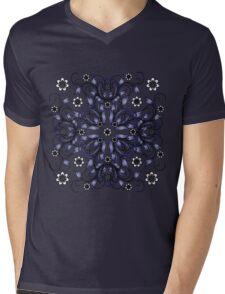 blue vintage pattern Mens V-Neck T-Shirt