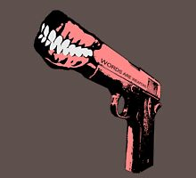 Words are Weapons (aka Shooting off your Mouth) Unisex T-Shirt