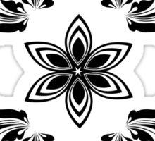 black vintage pattern Sticker
