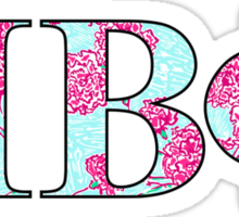 Pi Phi Lilly Letters Sticker