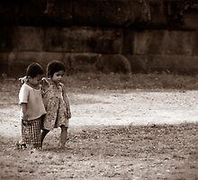 Angkor Wat Children by Chris Muscat