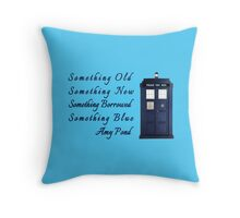 Doctor Who - Amy's Wedding Something Blue Throw Pillow