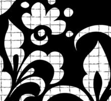 b&w flowers Sticker