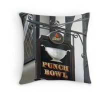 A Pubic House Sign on York's Stonegate  (I) Throw Pillow