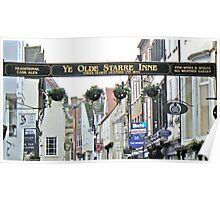 The Longest Public House Sign On York's Stonegate Poster