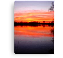 Sunset Over The Lake.. Canvas Print