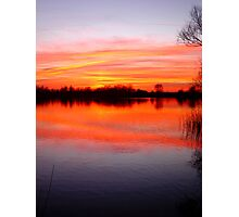 Sunset Over The Lake.. Photographic Print