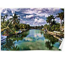 Riviera Waterway Poster
