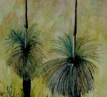 grass trees by Kathye