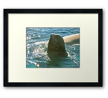 """My left side is my good side..."" Framed Print"