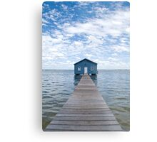 """Crawley Edge"" Boatshed, Perth, Western Australia Metal Print"