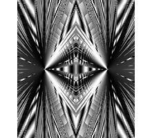 Silvery shining Diamond abstract Photographic Print