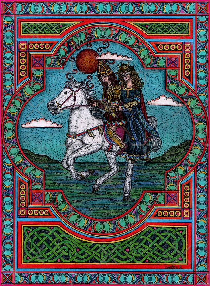 (celtic myth) Oisin and Niam of the golden hair by CherrieB