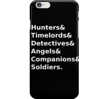 SuperWhoLock Text iPhone Case/Skin