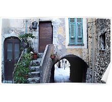 Old house and arched passage Poster