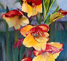 Glad to be Gladiolas by Jennifer Lycke